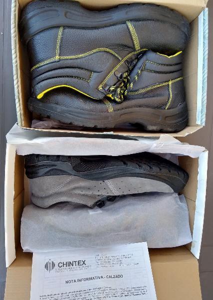 Lote zapatos y botas de seguridad 46