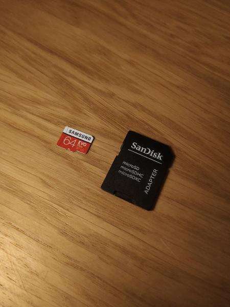 Tarjeta micro sd 64gb samsung evo plus + adaptador