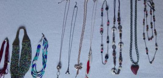 11 collares, cadenas de mujer