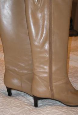 Botas altas de piel auténtica para mujer