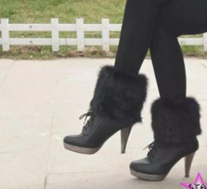 Calentadores piel sintetica calienta piernas mujer