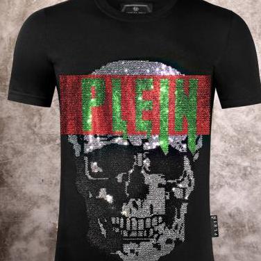 Camiseta philipp plein (black red green)