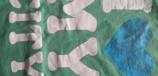 Camiseta niña manga corta verde talla 13-14