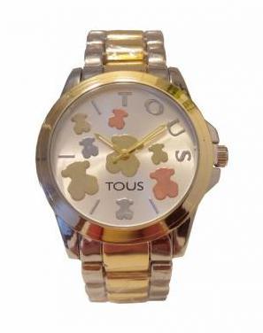 Reloj mujer oso de acero oro y plata