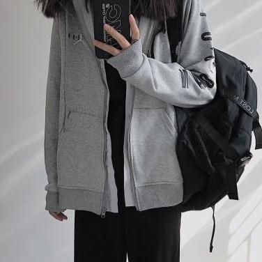 Sudadera jordan (black & grey)