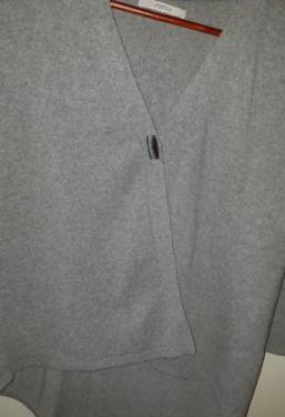 Uterque jersey gris lana manga larga
