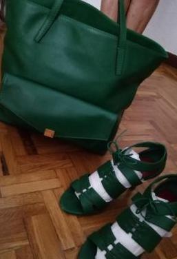 Bolso carolina herrera con zapatos a juego