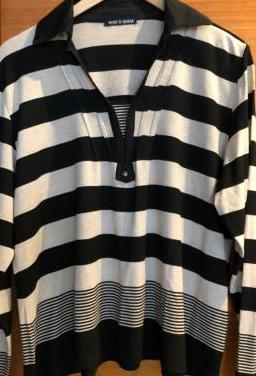 Camiseta rayas manga larga punto roma