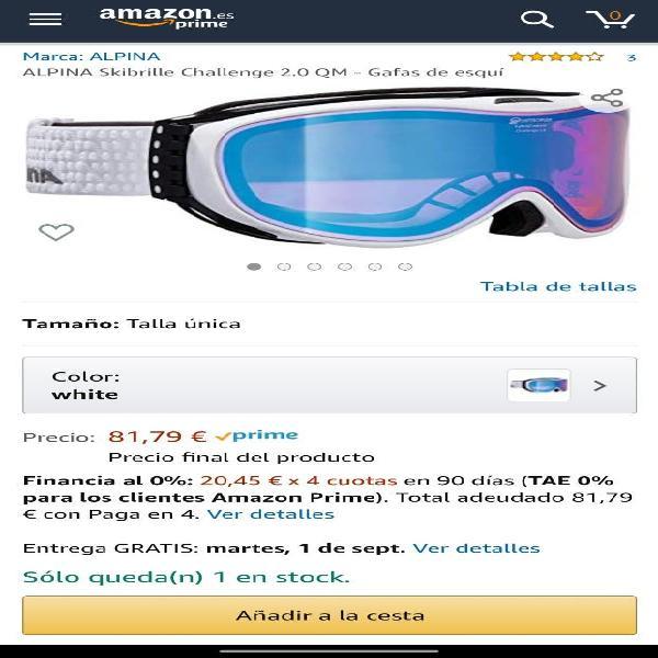 Alpina skibrille challenge 2.0 qm