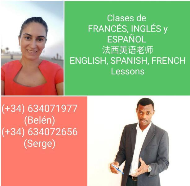 Clases particulares de inglés, francés y español