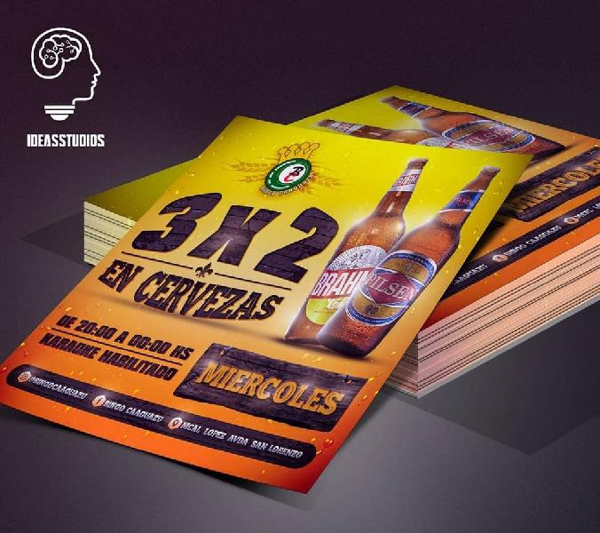 Diseños gráficos de alta definición, flyer, logos
