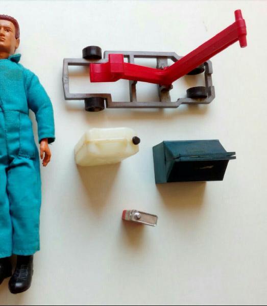 Madelman mecánico - accesorios originales.