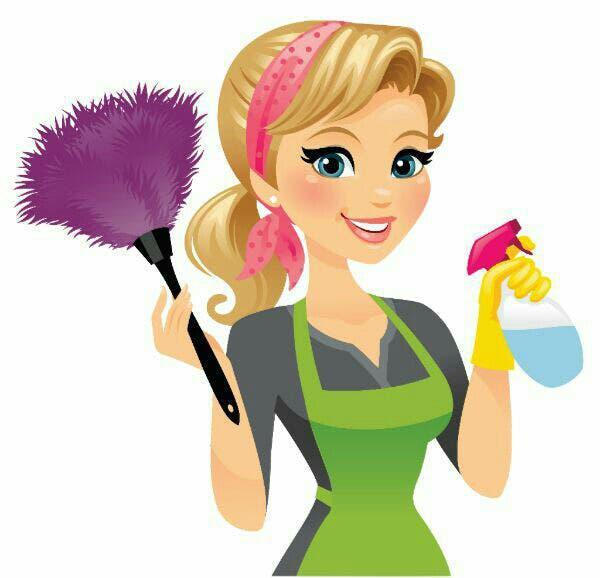 Mujer española profesional limpieza