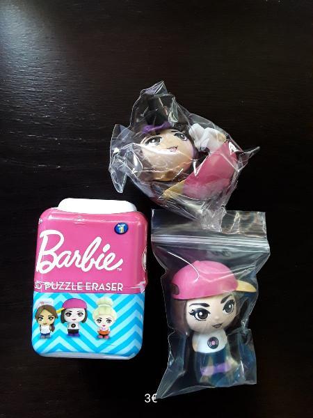 Goma de borrar palz barbie nueva colección