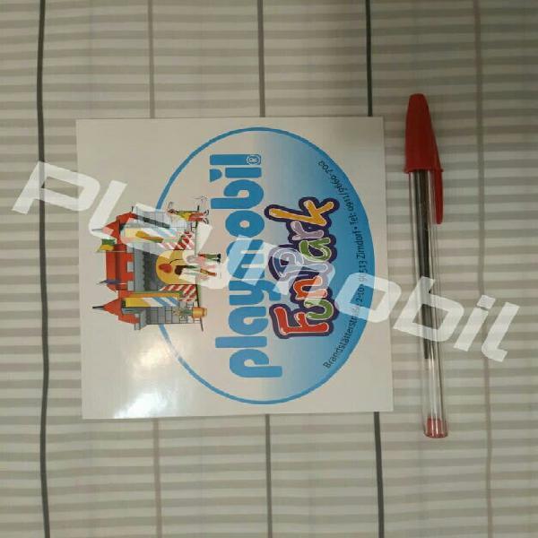 Playmobil pegatina funpark! regalo!