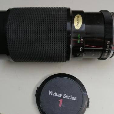 Teleobjetivo vivitar 70-210mm con teleconverter 2x