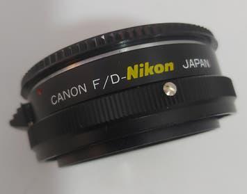 Adapt camara canon fd a objetivo nikon
