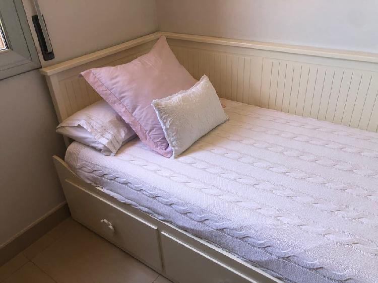 Cama ikea hemnes 80x200cm + colchón