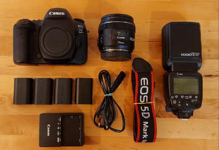Canon 5d mark iv + 35mm f2 + flash 600ex ii-rt