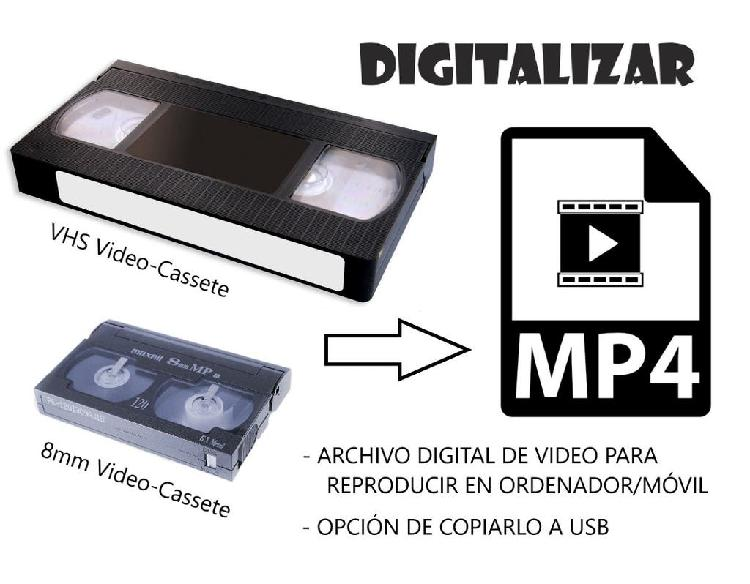 Digitalizar cassetes. no pierda recuerdos