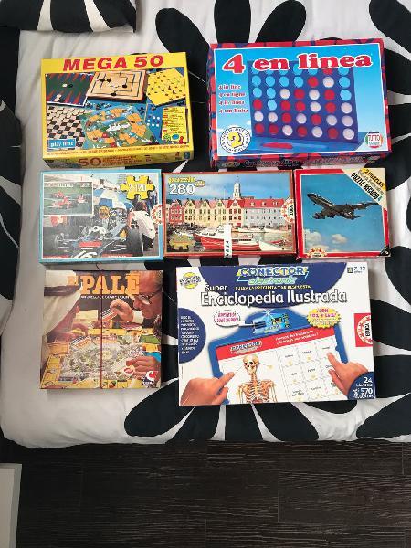 Juegos de mesa y puzzles antiguos