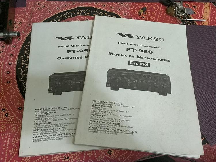 Manual de usuario yaesu ft 950