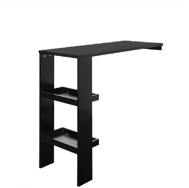 Mesa alta de bar de madera color negro