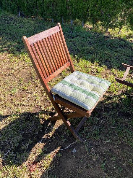 Mesa y sillas teka jardín / terraza