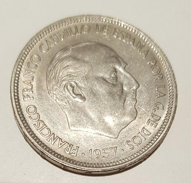 Moneda de 50 pesetas franco 1957 *67