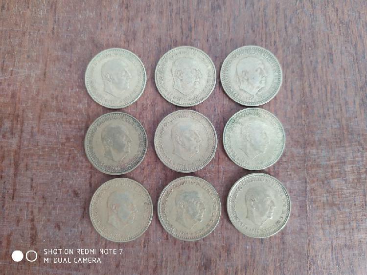 Monedas 1 pts franco 1966