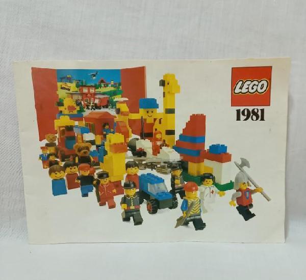 Catálogo lego 1981 (duplo, fabuland, legoland) - edita lego
