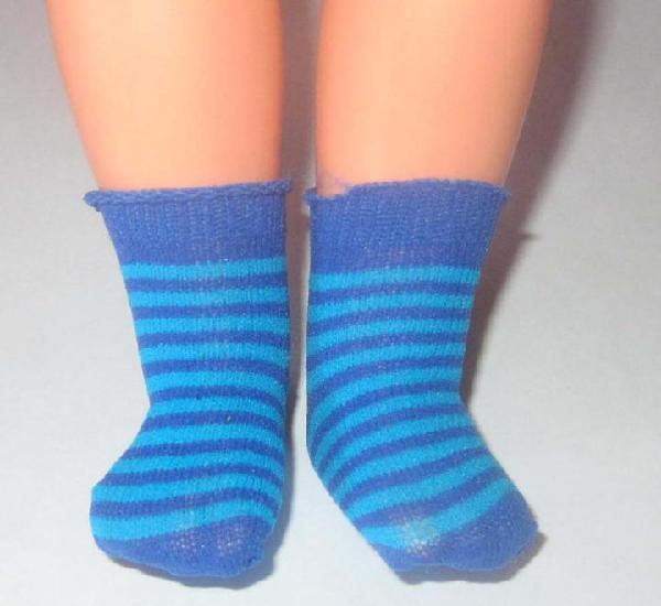 Nancy par calcetines azul y rayas azul claro, nuevos