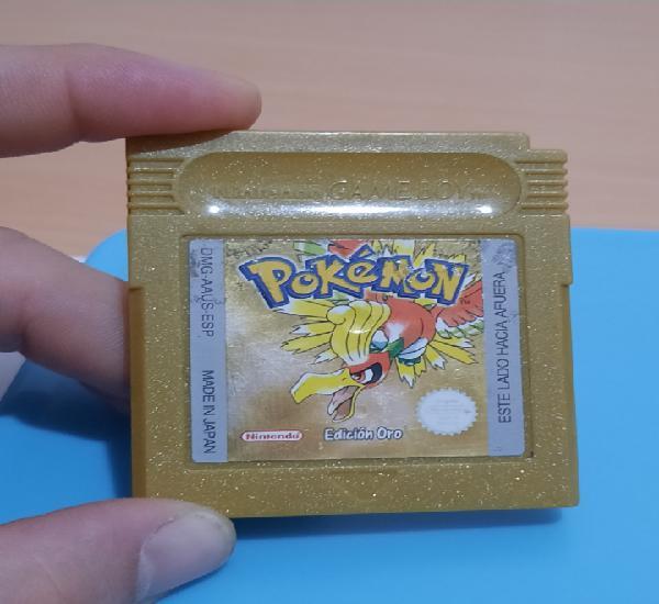 Pokémon edición oro gameboy color.