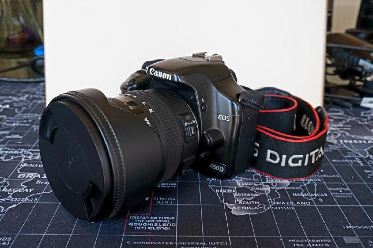 Canon eos 450 d + kit objetivos