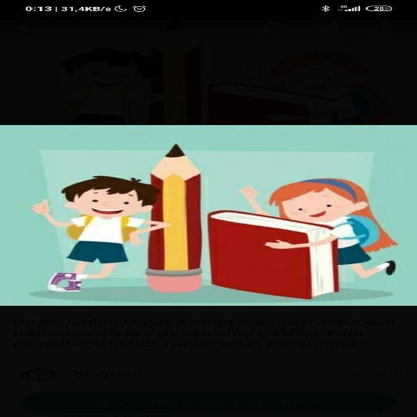 Clases particulares para niños