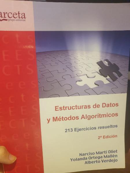 Estructura de datos y métodos algorítmicos.