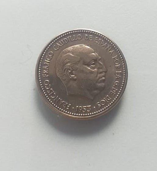 Moneda 2,50 pesetas francisco franco 1953 *56