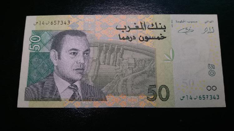 Marruecos billete de 50 dirhams 2002 como nuevo