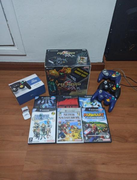Nintendo gamecube edición metroid + juegos