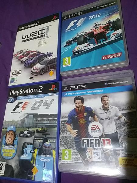 Pack videojuegos fórmula 1 y rallye