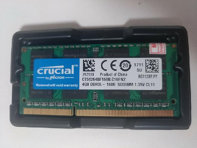Ram ddr3 4gb 1600 para ordenador portátil mac y pc