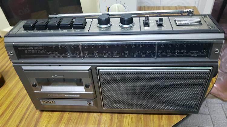 Radio cassette philips nuevo.