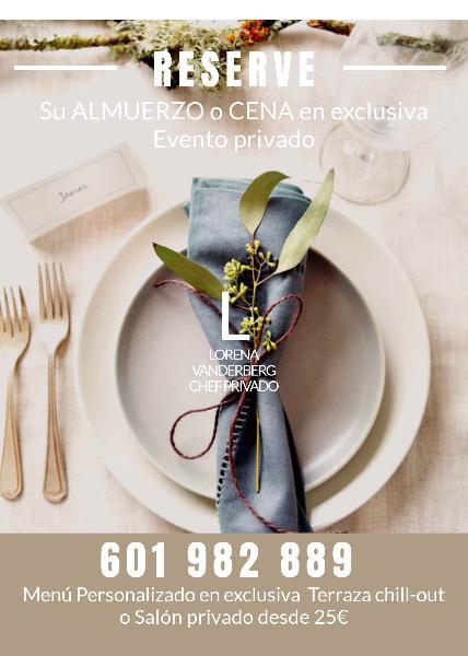 Reserva tu evento en casa de un chef privado.