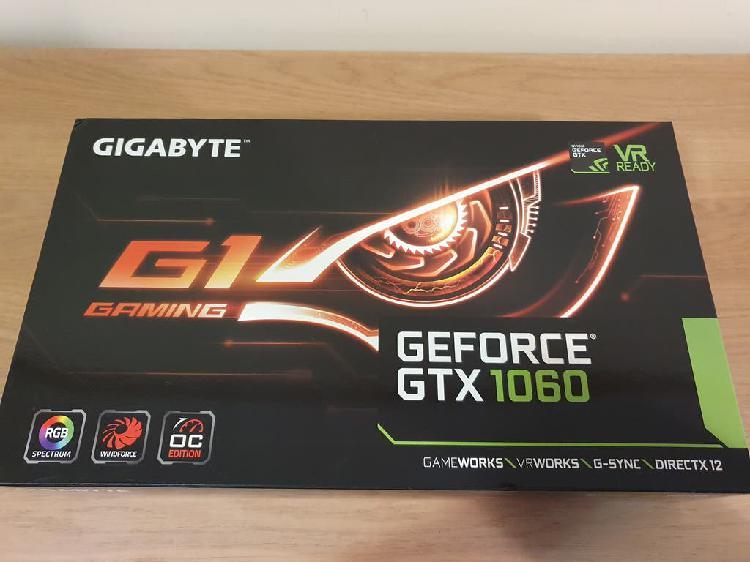 Tarjeta grafica gigabyte geforce gtx 1060.