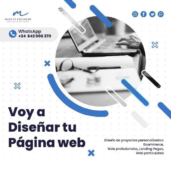 Voy a diseñar tu páginas web profesional
