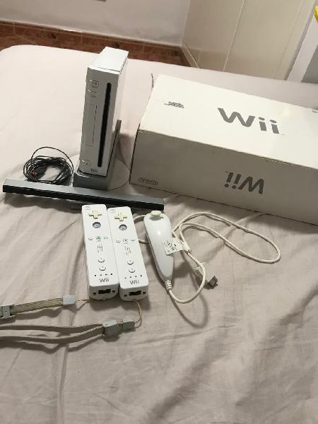 Wii con caja original + juegos