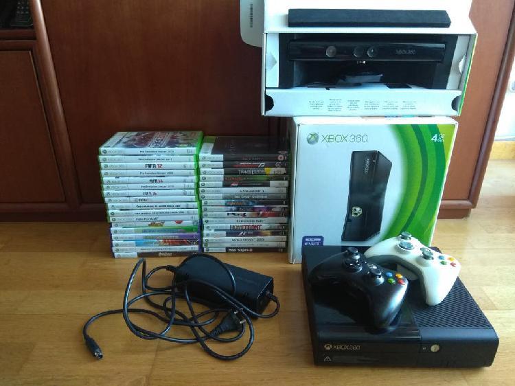 Xbox 360e 500gb+kinect+33 juegos