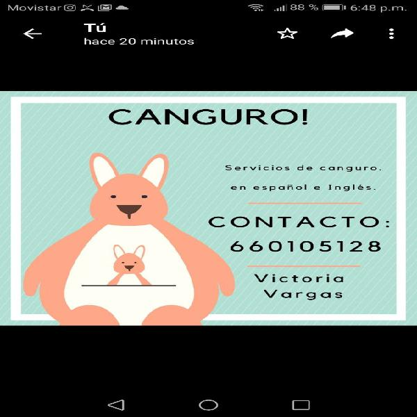 Canguro bilingüe (babysister)