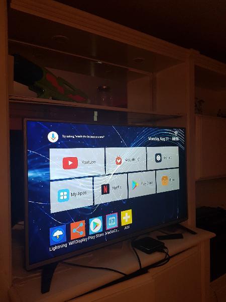 Led lg 43 full hd +tv box android