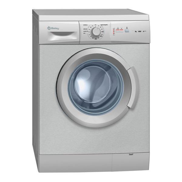 Balay 3ts863xa - lavadora 6 kg acero mate 1000 rpm clase